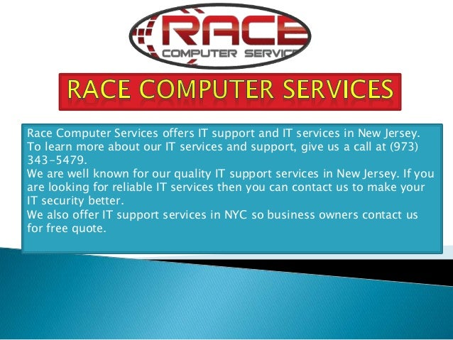 Race Computer Services offers IT support and IT services in New Jersey. To learn more about our IT services and support, g...