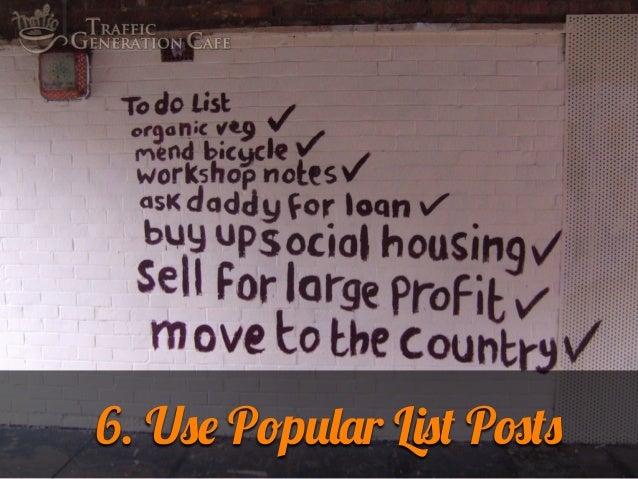 6. Use Popular List Posts