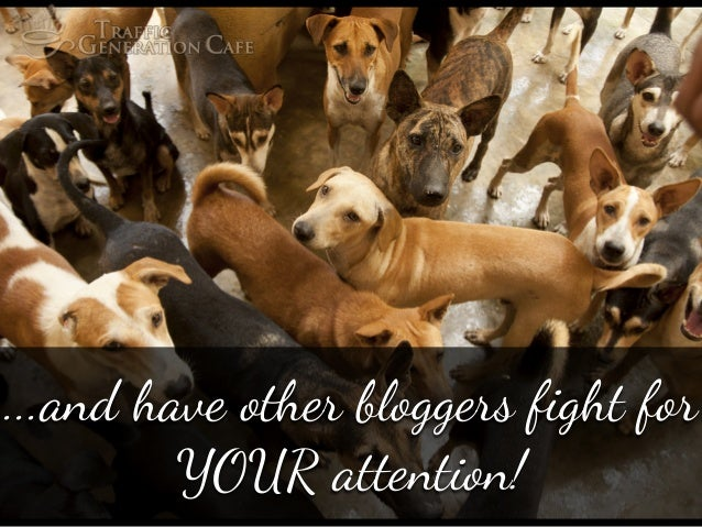 """...and have o#er bloggers fight f"""" YOUR attention!"""
