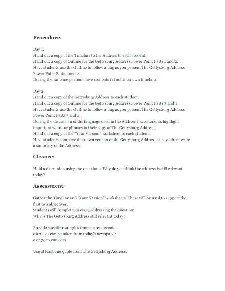 gettysburg address worksheet. Black Bedroom Furniture Sets. Home Design Ideas