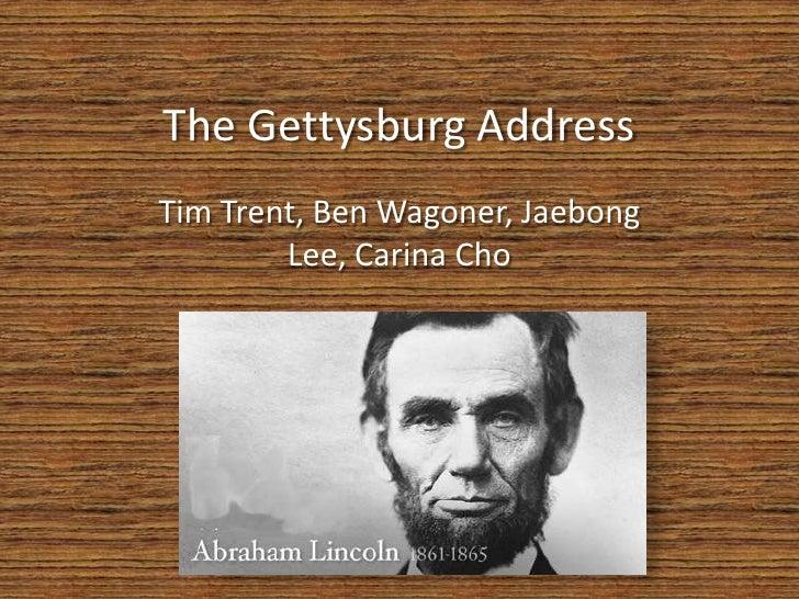 the gettysburg address tone