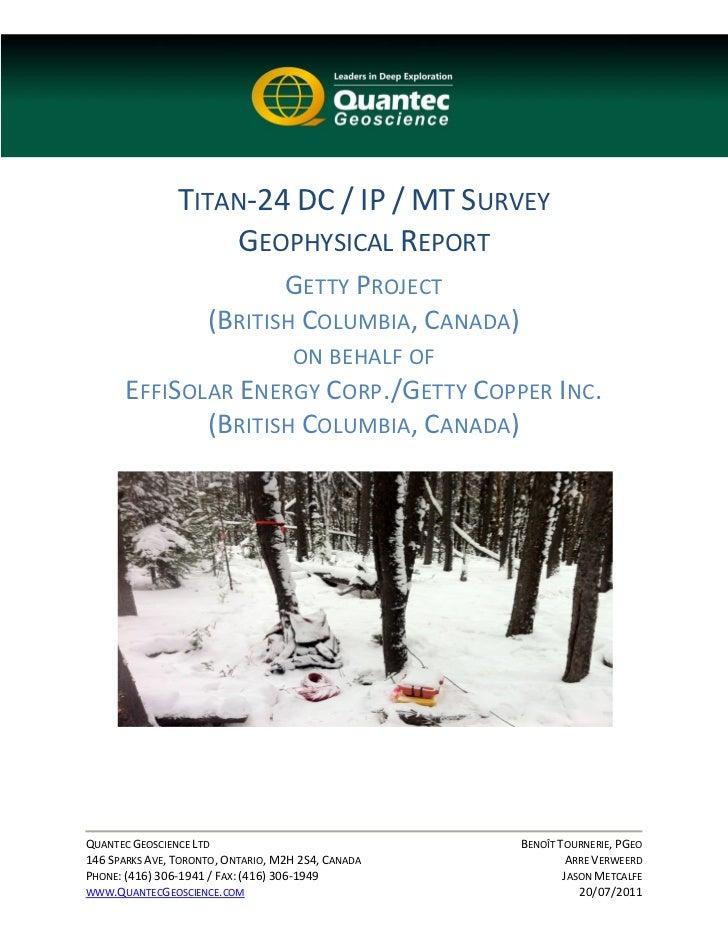 TITAN‐24DC/IP/MTSURVEY                    GEOPHYSICALREPORT                     GETTYPROJECT ...
