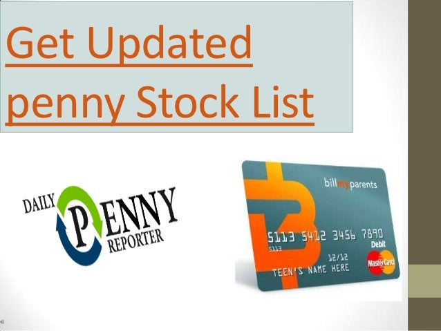 Get Updatedpenny Stock List