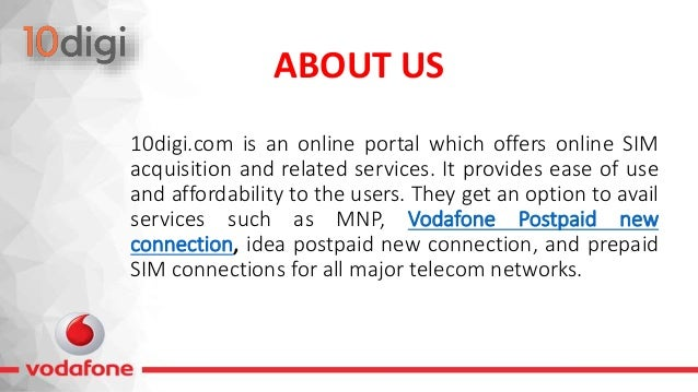 Get Vodafone 4G SIM with 10digi