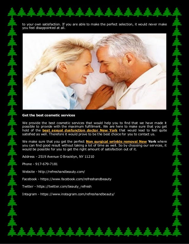 Sexual dysfunction physicians in new york