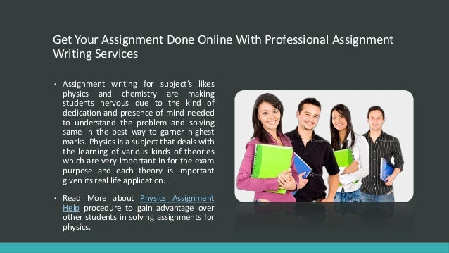 Get your assignment done