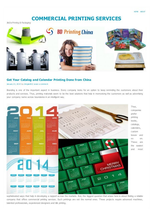 HOME  ABOUT  COMMERCIAL PRINTING SERVICES BoDa Printing & Packaging  Get Your Catalog and Calendar Printing Done from Chin...