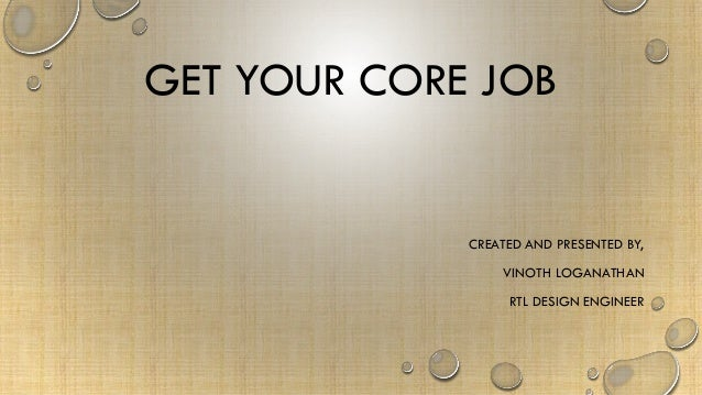 Get Your Core Job For Students And Freshers