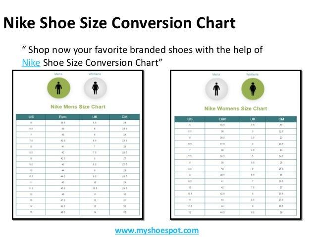 nike youth shoe size to women's