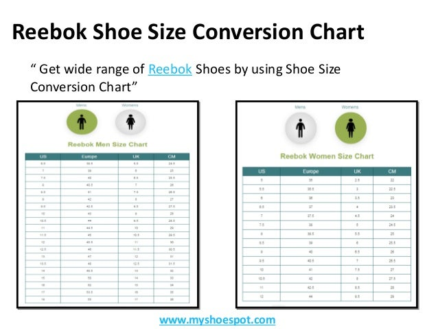 reebok shoes size guide