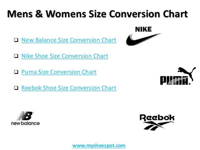 Puma Shoe Size Converter