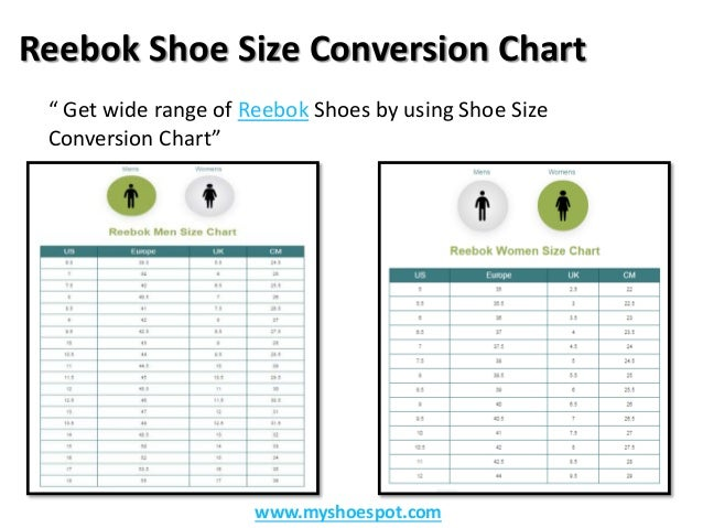 reebok shoe sizing compared to nike