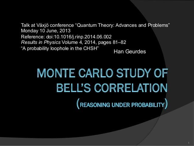 "Han Geurdes 1 Talk at Växjö conference ""Quantum Theory: Advances and Problems"" Monday 10 June, 2013 Reference: doi:10.1016..."