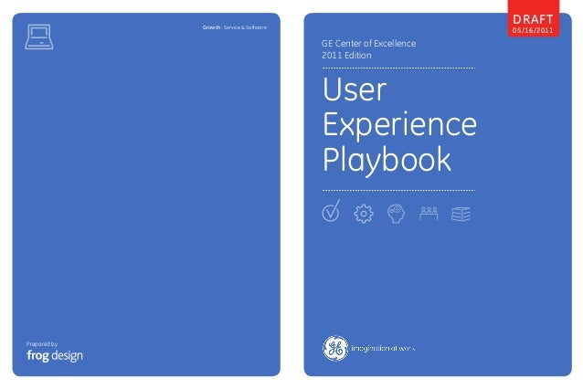 Prepared by GE Center of Excellence 2011 Edition User Experience Playbook Draft 05/16/2011Growth : Service & Software