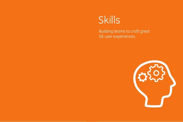 5958 Building teams to craft great GE user experiences. Skills