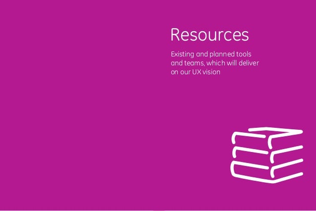 9392 Existing and planned tools and teams, which will deliver on our UX vision Resources