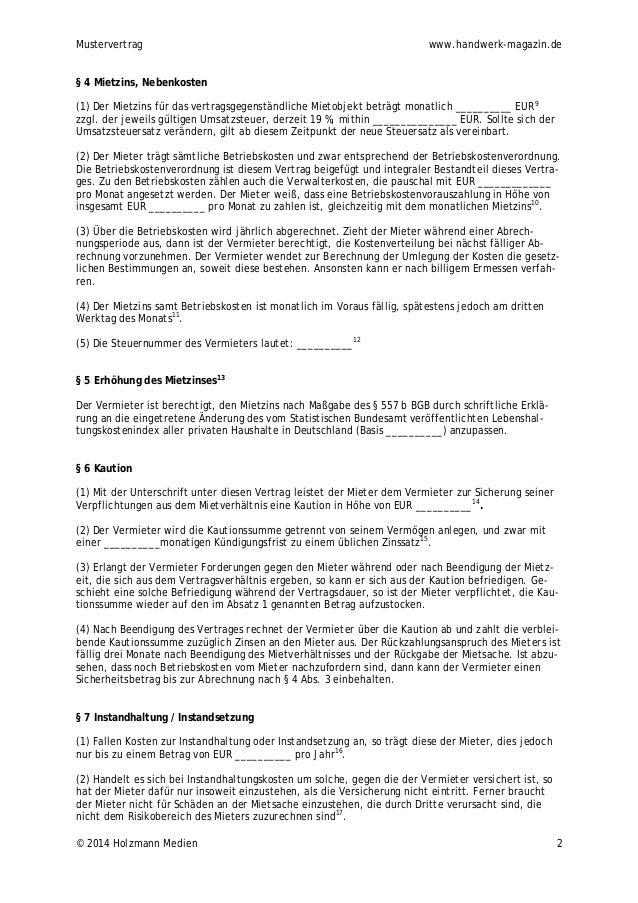 Gewerbemietvertrag handwerk-magazin.de