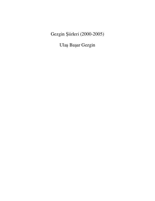 Gezgin Şiirleri (2000-2005)Ulaş Başar Gezgin