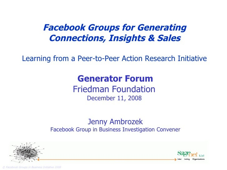 Facebook Groups in Business   Facebook Groups for Generating Connections, Insights & Sales Learning from a Peer-to-Peer Ac...