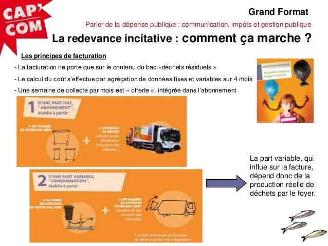 Grand Format Parler de la dépense publique : communication, impôts et gestion publique  La redevance incitative : comment ...