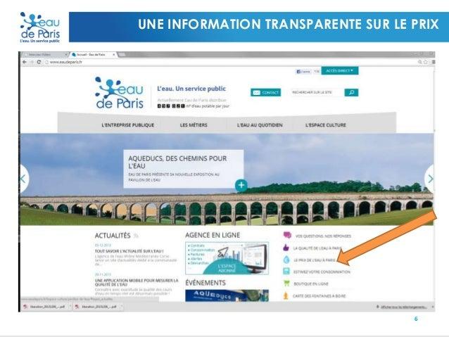 UNE INFORMATION TRANSPARENTE SUR LE PRIX  6
