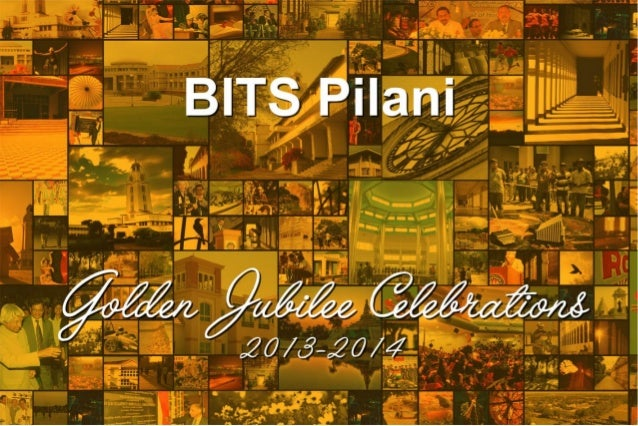 BITS Pilani Golden Jubilee Celebrations Brochure