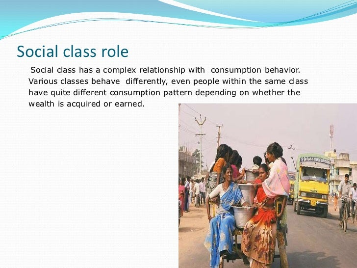 relationship between social class and consumer behavior in economics
