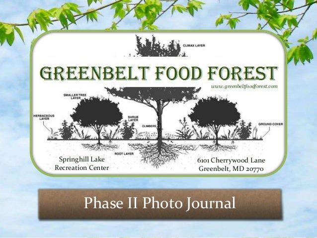 www.greenbeltfoodforest.com Springhill Lake         6101 Cherrywood LaneRecreation Center        Greenbelt, MD 20770      ...