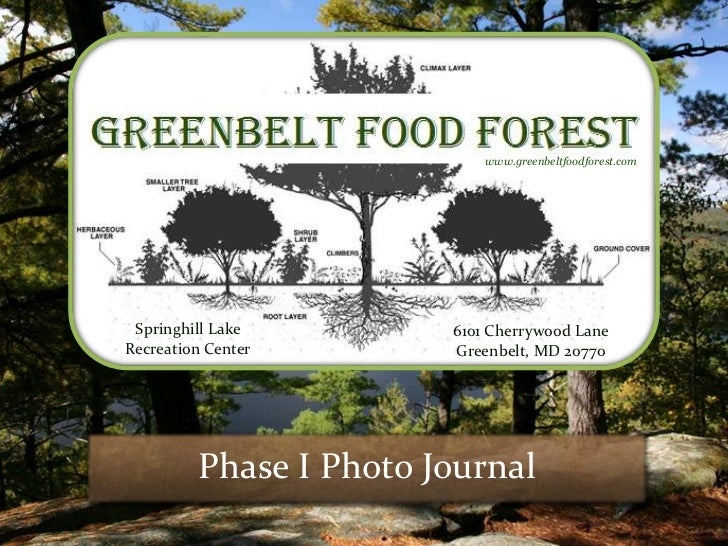 www.greenbeltfoodforest.com Springhill Lake        6101 Cherrywood LaneRecreation Center       Greenbelt, MD 20770        ...