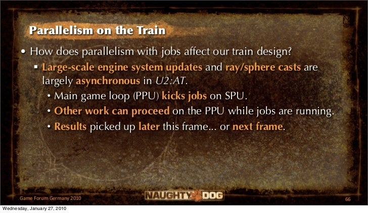 Parallelism on the Train       • How does parallelism with jobs affect our train design?          Large-scale engine syst...