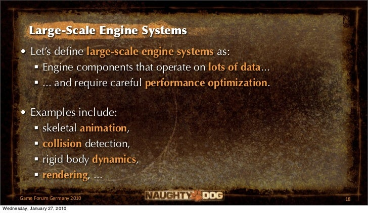 Large-Scale Engine Systems       • Let's define large-scale engine systems as:           Engine components that operate on...