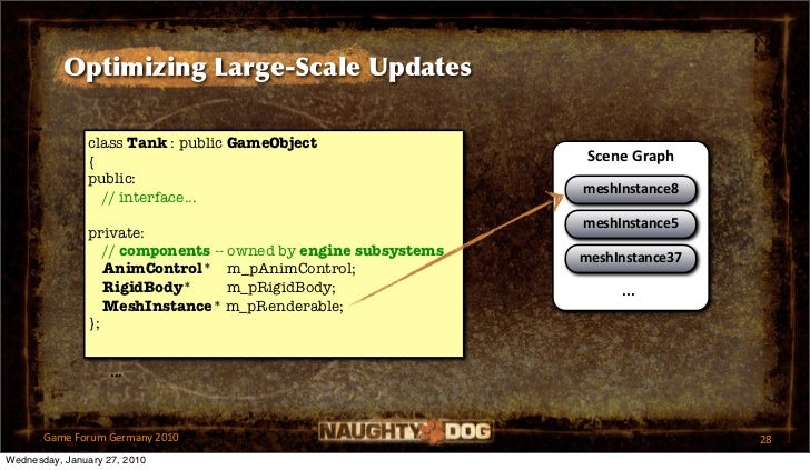 Optimizing Large-Scale Updates               class Tank : public GameObject               {                               ...