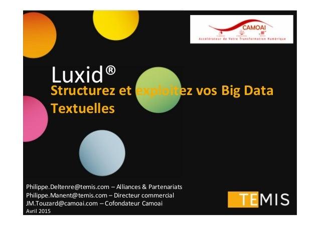 Copyright © 2013 TEMIS - All Rights Reserved - Slide 1 Philippe.Deltenre@temis.com – Alliances & Partenariats Philippe.Man...