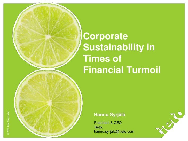 Corporate                            Sustainability in                            Times of                            Fina...