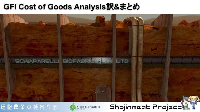 GFI Cost of Goods Analysis訳&まとめ