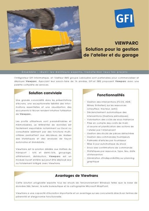 Gfi gestion de l 39 atelier et du garage viewparc for Gestion de garage