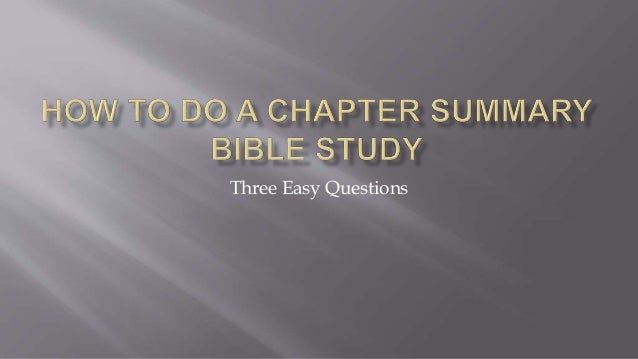 Three Easy Questions