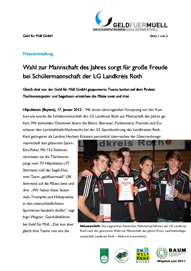 Geld für Müll GmbH                                                                      Seite 1 von 3PressemitPressemittei...