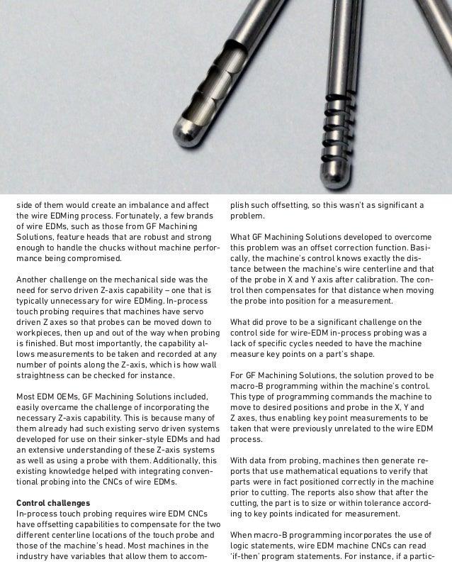 GF Machining Solutions - AgieCharmilles EDM - Wire EDM Gauging