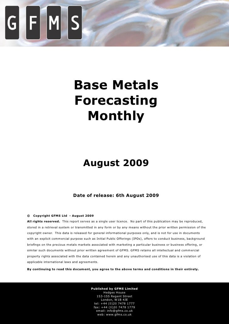 Base Metals                               Forecasting                                 Monthly                             ...