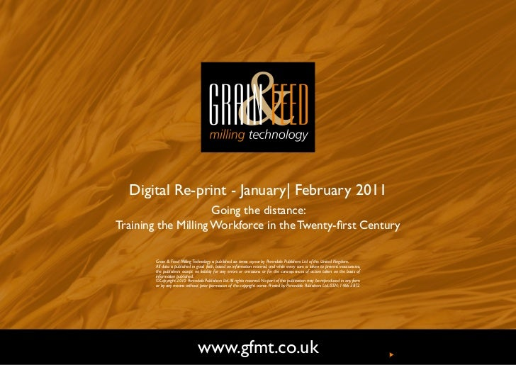 Digital Re-print - January| February 2011                     Going the distance:Training the Milling Workforce in the Twe...