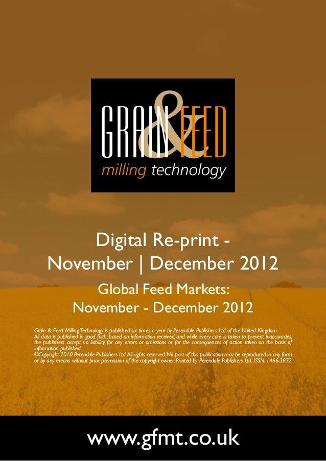 Digital Re-print -      November | December 2012                     Global Feed Markets:                  November - Dece...
