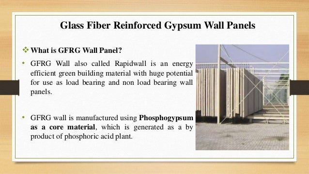 Glass Reinforced Gypsum Product : Glass fiber reinforced gypsum gfrg panel