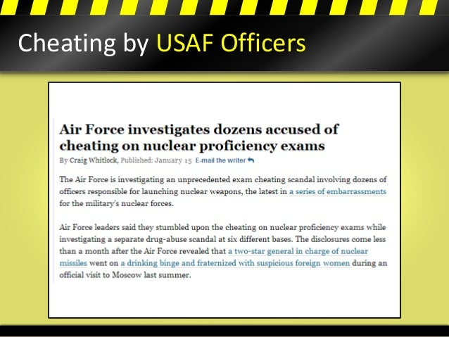 Cheating by USAF Officers