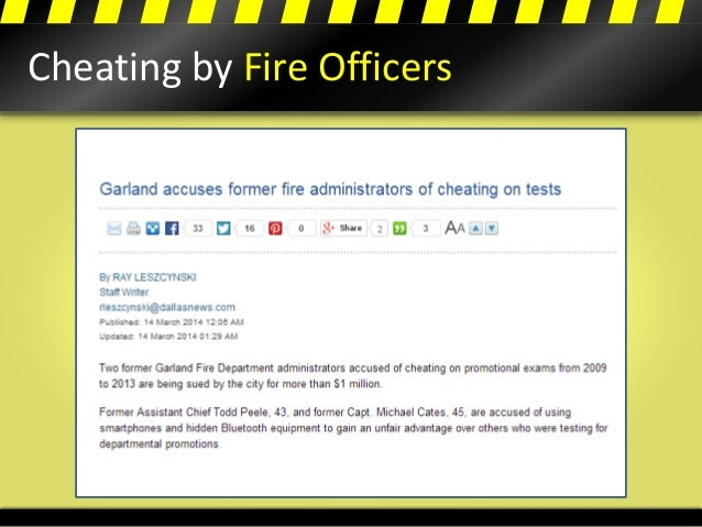 Cheating by Fire Officers