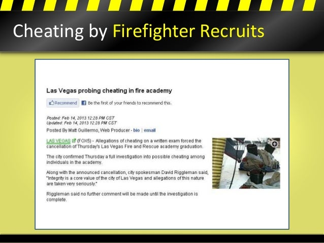 Cheating by Firefighter Recruits