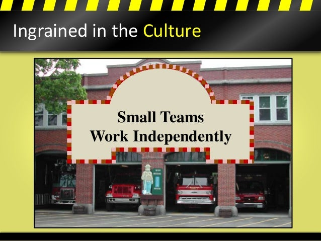 Ingrained in the Culture All for One, One for All Win Together, Fail Together Ends Justifies The Means Small Teams Work In...