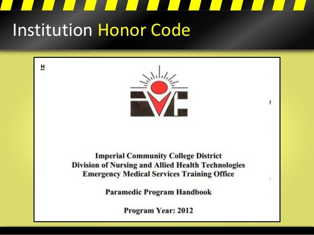 Institution Honor Code