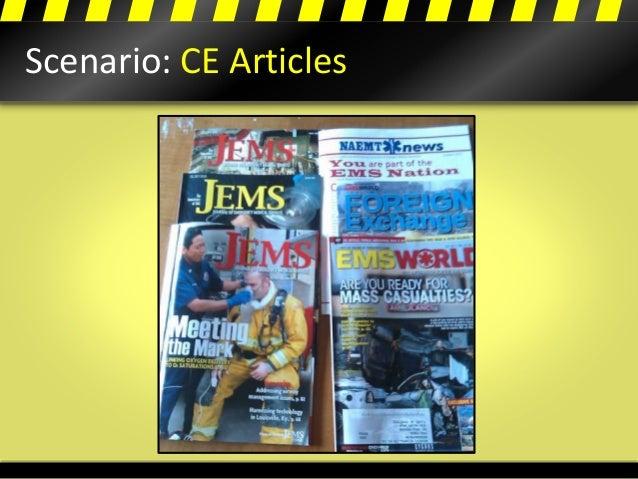 Scenario: CE Articles