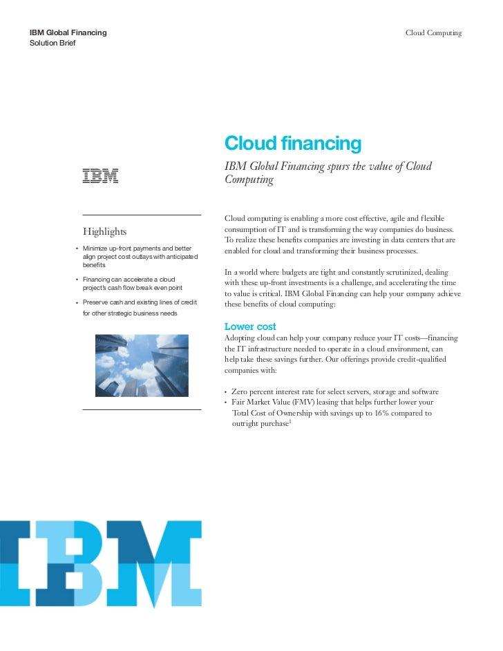 IBM Global Financing                                                                                                      ...